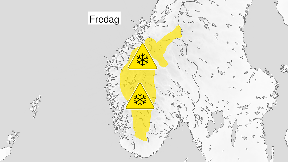 Map of snow, yellow level, Vestlandet and fjellet i Soer-Norge, 08 October 22:00 UTC to 09 October 22:00 UTC.