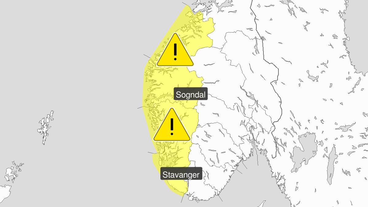 Is observert, gult nivå, Vestlandet, 13 November 07:00 UTC til 14 November 07:00 UTC.