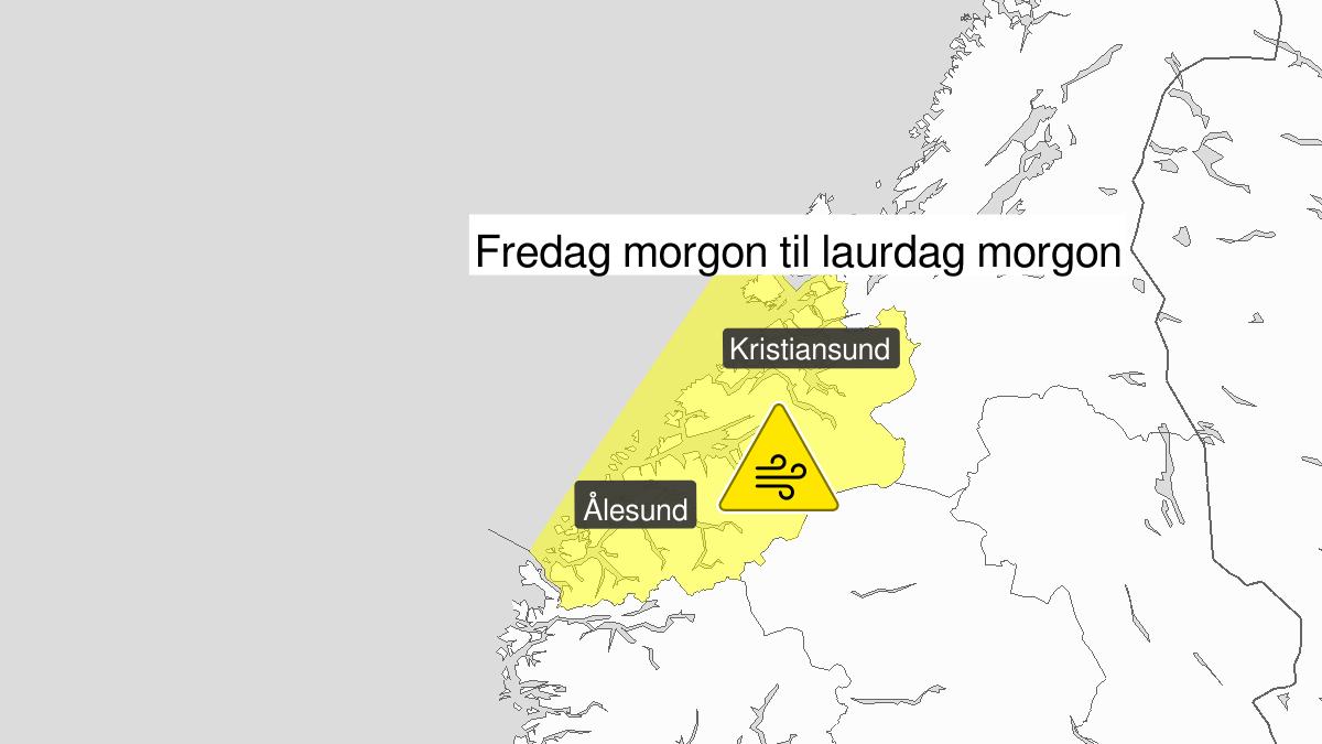 Kraftige vindkast, gult nivå, Møre og Romsdal, 03 January 05:00 UTC til 04 January 06:00 UTC.